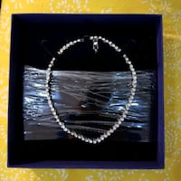 Swarowski Crystal and Rhodium Tennis Necklace