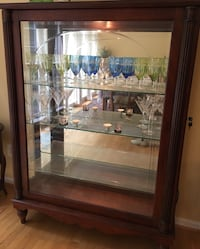 China Cabinet - Lit Glass Shelves - Solid Wood Clifton, 20124