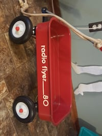 Vintage red Radio Flyer pull wagon Wyoming, 49519