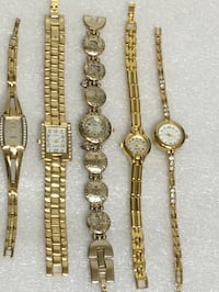 Beautiful Ladies Gold Tone Brand Name Watches Excellent Condition Need Batteries ALL FOR $30 Raleigh, 27610