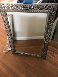 rectangular gray metal framed mirror Woodbridge, 22193