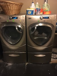 Washer and Dryer GE Profile™ ENERGY STAR® 4.2 IEC Cu. Ft. Colossal Capacity Front load