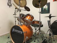 Ludwig Accent Drum Set (5 Piece + Cymbals + Hardware) ROCKVILLE