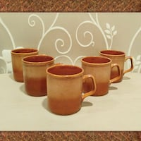 LOT OF 5 BROWN OMBRE COFFEE MUGS  Ontario, 91762