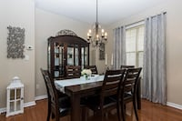 rectangular brown wooden table with six chairs dining set Oakville, L6H 3H6