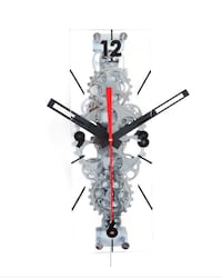 Rectangle Glass Gear Clock Arlington, 22203