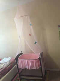 Baby base net with canopy