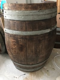 """Authentic """" Wine Barrel entry Table!! Cut in half !! Gorgeous Rustic Furniture Moreno Valley, 92551"""