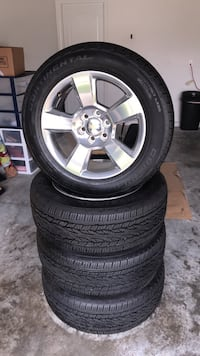 Gray 5-spoke vehicle wheel and tire set Riverview
