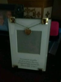 50th anniversary picture frame with a verse on it