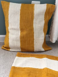 West Elm yellow and white pillow cases Chantilly, 20152