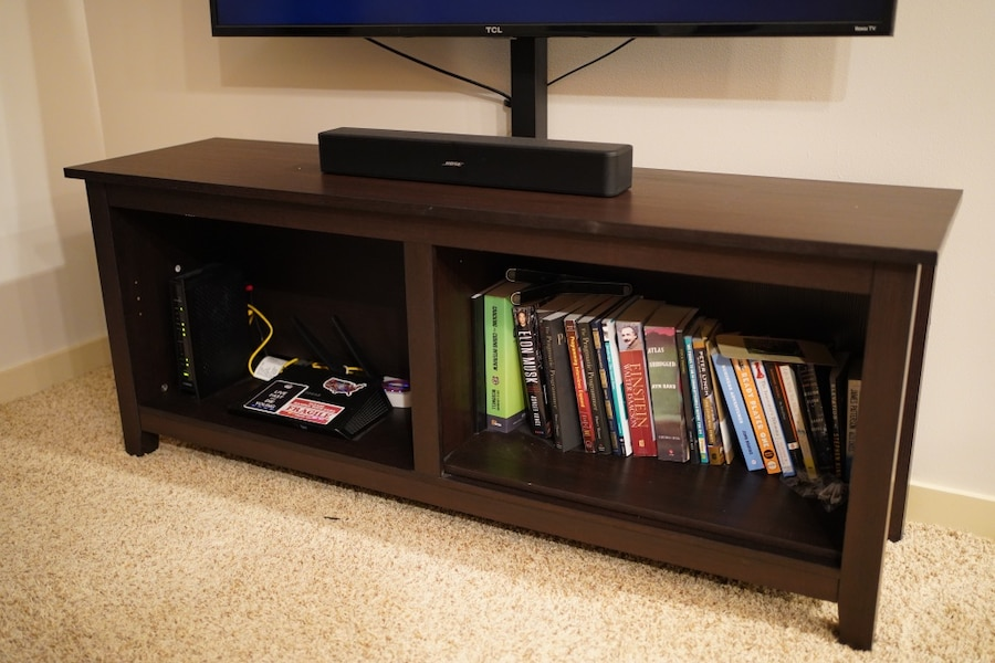 Photo Walker Edison Wood TV Stand Console with Mount