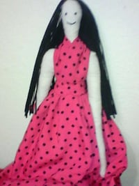 white red doll