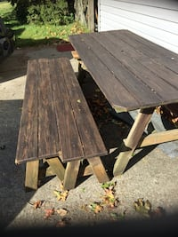Wooden Picnic table with benches