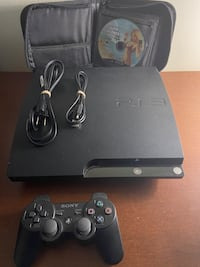 Ps3 Slim 129gb bundle with one controller and 13 games