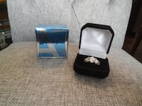 *New* Avon Platinum Plated 100 facet Cz Ring, Size 10 $20 PU Morinvill Morinville