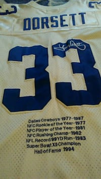 blue and white Dallas Cowboys jersey Midwest City, 73130