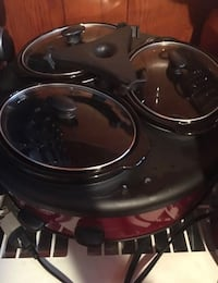Red and black home appliance