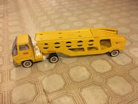 Vintage 1960s Tonka yellow pressed steel car carrier Vienna, 22180