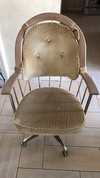 brown wooden framed brown padded chair New Westminster, V3M