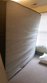 Sealy King mattress plus memory foam topper and plywood foundation Beltsville, 20705