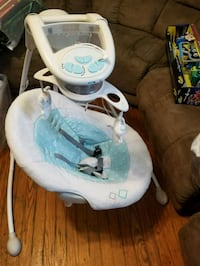 baby's white and blue cradle and swing Virginia Beach, 23452