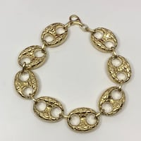 10K gold 17mm GUCCI nugget bracelet  Brampton