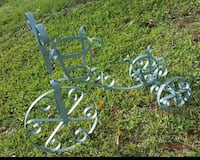 gray scroll frame bike planters stand Troup, 75789