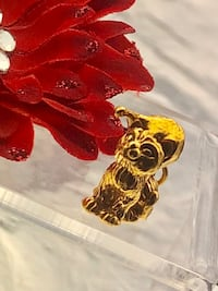 New! 24k Gold plated over real sterling silver Santa cat pendant charm  Brampton, L6R 2C5