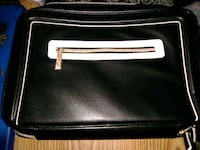 black and white leather crossbody bag Rome, 30165