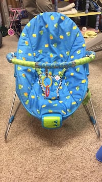 baby's blue and green Bright Starts bouncer Germantown, 20874