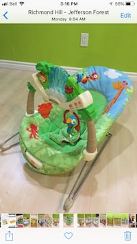 baby's green and white bouncer Richmond Hill, L4E 3P6