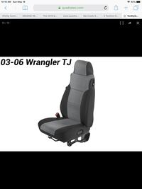 Tecstyle custom cloth seat covers for 03-06 Jeep wrangler.  Brand new.
