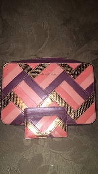 Multi colored leather Michael Kors purse with matching credit card holder. In excellent condition! Beaumont, 77705