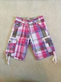 red, white, and blue plaid shorts Bradford West Gwillimbury, L3Z