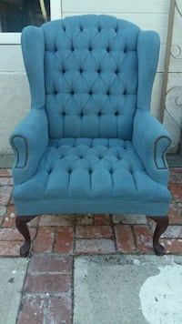 tufted blue suede sofa chair Oceanside, 92057