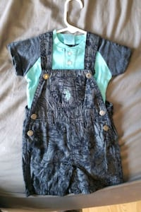 New Baby overalls with shirt 6/9 months. Frederick