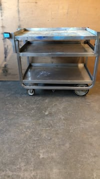 "3 Shelf Metal Service Cart-33""x21""x29""tall"