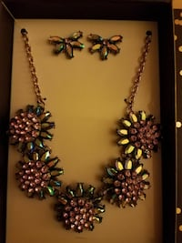 New multi colored statement necklace and earrings  Phoenixville, 19460