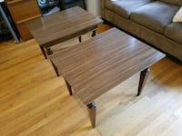 Vintage mid-century modern end tables - real wood! Chicago, 60626