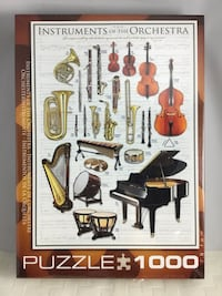 NEW 100O piece Jigsaw Puzzle Instruments of the Orchestra