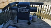 BBQ grill with two liquid gas cylinder