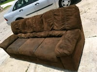 brown suede 3-seat sofa Brownsville, 78520