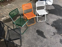 Wrought iron folding chairs ( excellent condition )