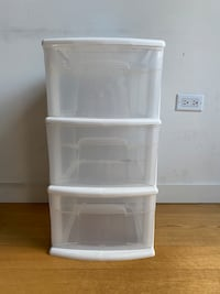 Plastic storage 3 drawers