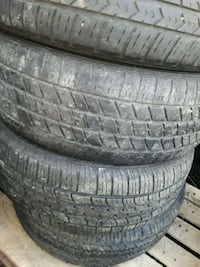 Pair of coopers tires and goodyear