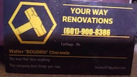 Remodeling or just adding a room we can take care of it for you!!?thank you for your business  Carthage, 39051