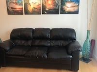 Simmons faux leather sofa Vienna, 22182