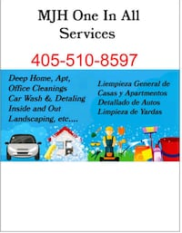 We provide House cleaning, yard work .car wash etc Oklahoma City