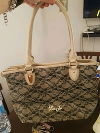 tote bag monogram marrone e bianco Michael Kors Roma, 00133